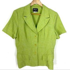 2 Piece Lime Jacket and Skirt Set